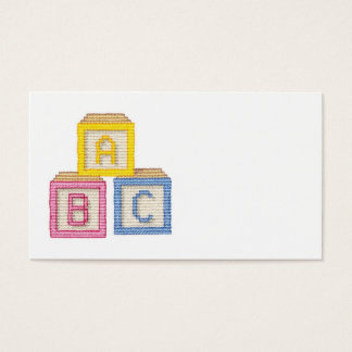 Baby Blocks Business Card