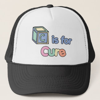 Baby Blocks C is for Cure Trucker Hat