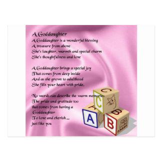 Baby Blocks goddaughter poem Postcard