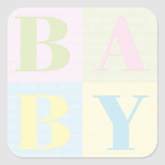 """BABY Blocks"" Stickers"