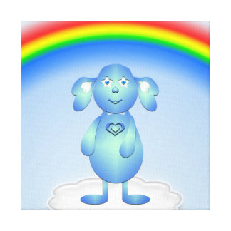 Baby Blu and the Rainbow Canvas Print