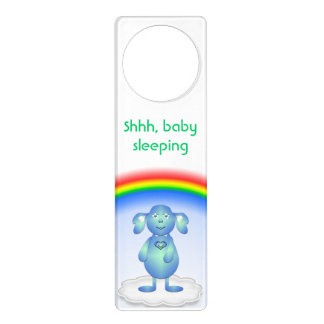 Baby Blu and the Rainbow Door Hanger