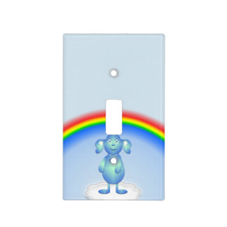 Baby Blu and the Rainbow Light Switch Cover