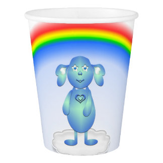 Baby Blu and the Rainbow Paper Cup