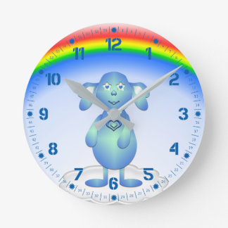 Baby Blu and the Rainbow Round Clock