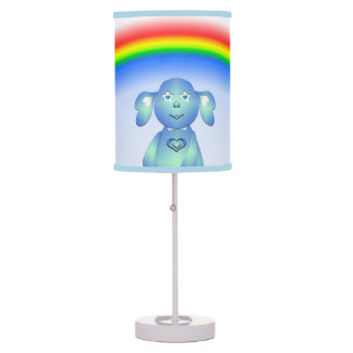 Baby Blu and the Rainbow Table Lamp