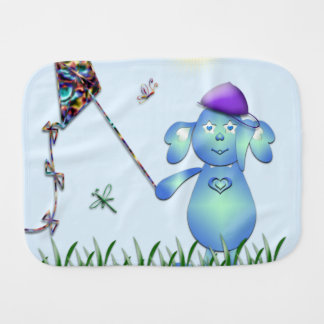 Baby Blu in the Park Burp Cloth