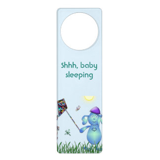 Baby Blu in the Park Door Hanger