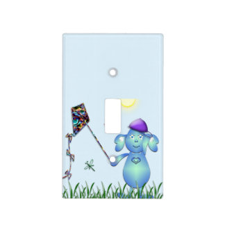 Baby Blu in the Park Light Switch Cover