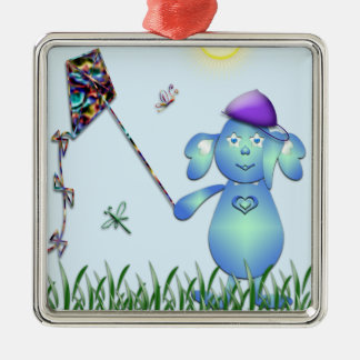 Baby Blu in the Park Metal Ornament