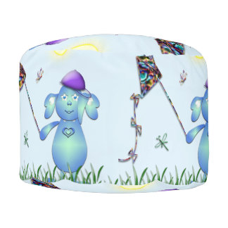 Baby Blu in the Park Pouf