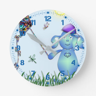 Baby Blu in the Park Round Clock