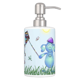 Baby Blu in the Park Soap Dispenser And Toothbrush Holder