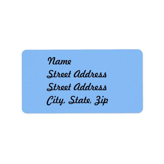 Baby Blue Address Sticker