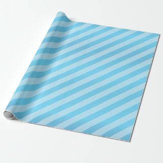 Baby Blue and Diagonal Stripes Wrapping Paper