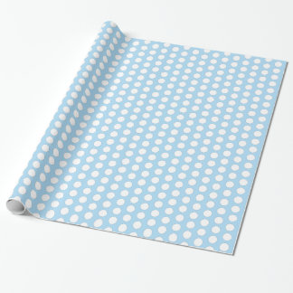 Baby Blue and White Pattern Wrapping Paper