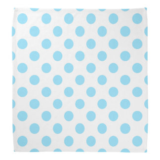Baby blue and white polka dots head kerchiefs