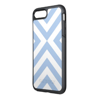 Baby Blue and White V-shape Pattern OtterBox Symmetry iPhone 7 Plus Case