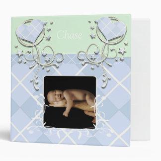 Baby Blue Argyle Heart Swirls-Your Photo Binder