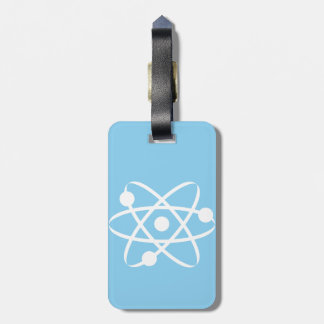 Baby Blue Atom Luggage Tag