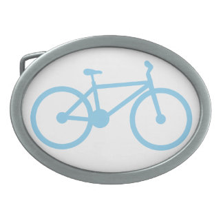 Baby Blue Bicycly Oval Belt Buckles