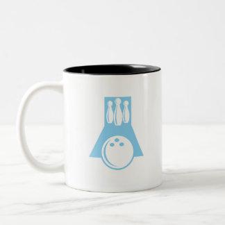 Baby Blue Bowling Two-Tone Coffee Mug