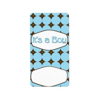 Baby Blue Boy Hersheys Miniature Candy bar wrap