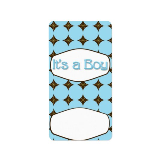Baby Blue Boy Hersheys Miniature Candy bar wrap Label