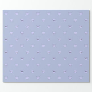Baby Blue Cat Face Wrapping Paper