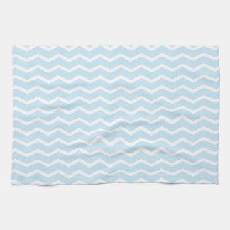 Baby Blue Chevron Pattern Kitchen Towel