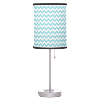 Baby Blue Chevron Table Lamp
