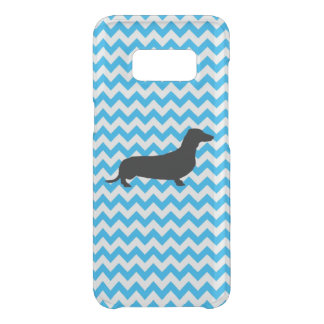 Baby Blue Chevron With Dachshund Uncommon Samsung Galaxy S8 Case