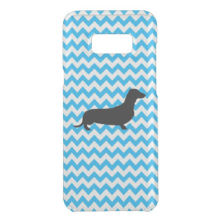 Baby Blue Chevron With Dachshund Uncommon Samsung Galaxy S8 Plus Case