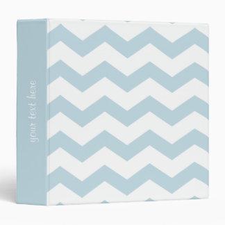 Baby Blue Chevron Zigzag Stripes 3 Ring Binders
