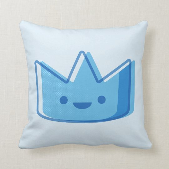 Baby Blue Crown Throw Pillow