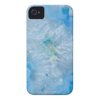 Baby Blue Crystal Agate iPhone 4 Case-Mate Case