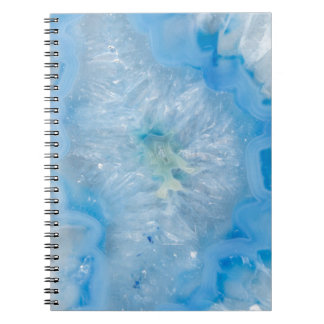 Baby Blue Crystal Agate Notebooks