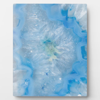 Baby Blue Crystal Agate Plaque