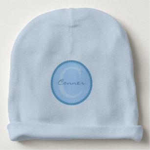 a2c4a9a9f Baby-Blue Custom Monogram Baby Beanie