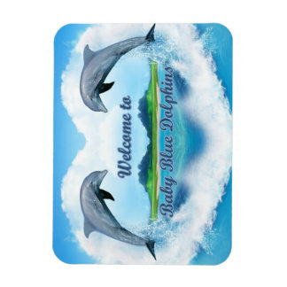 Baby Blue Dolphin Magnet