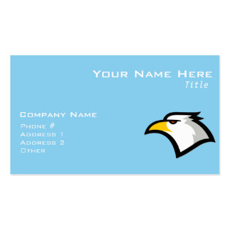 Baby Blue Eagle Double-Sided Standard Business Cards (Pack Of 100)