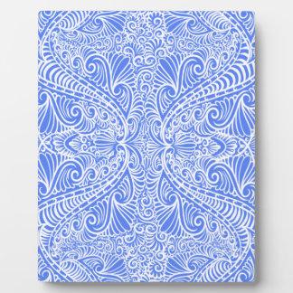 Baby Blue Elegant flow Plaque