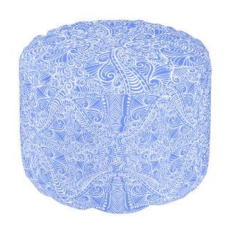 Baby Blue Elegant flow Pouf