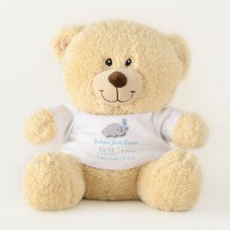 Baby Blue Elephant Birth Keepsake Design Teddy Bear