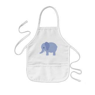 Baby Blue Elephant Kids Apron