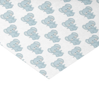 Baby Blue Elephants Tissue Paper