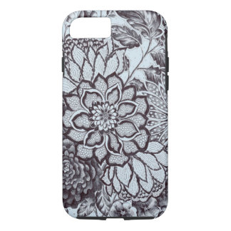 (baby blue flower lace) iPhone 8/7 case