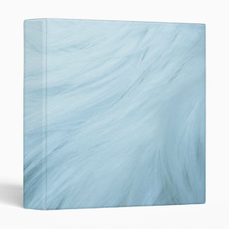 Baby blue furry binder