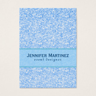 Baby Blue Glitter And Sparkles Pattern Business Card