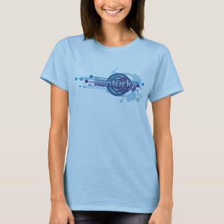 Baby Blue Graphic Circle Kentucky T-Shirt